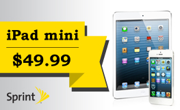 Buy an iPhone 5c or 5s, get an iPad Mini for $49.99!